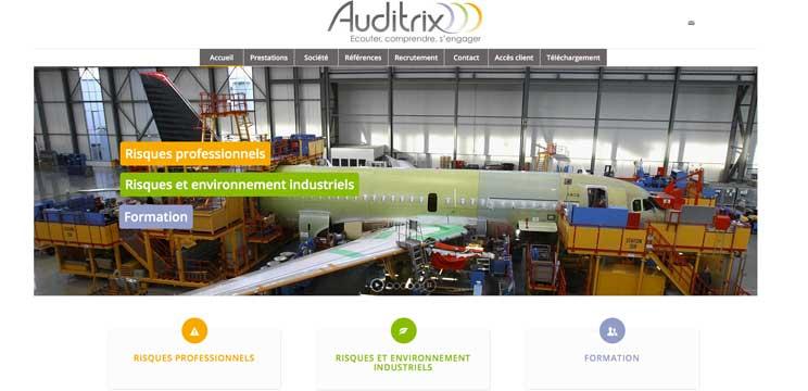 La page d'accueil de www.auditrix.com